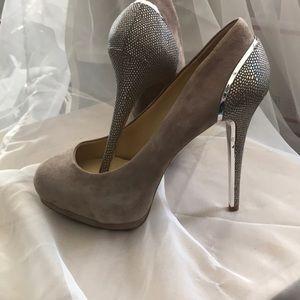 Suede HIGH heels, rainbow scales